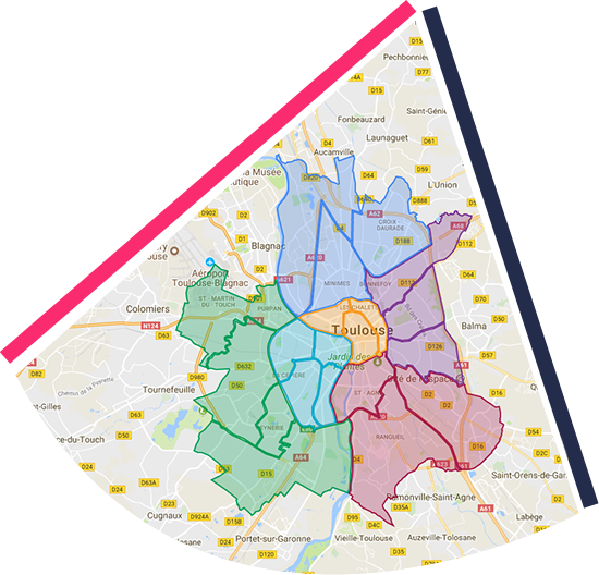 Carte Toulouse